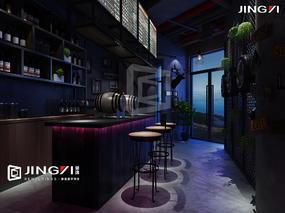 景逸效果图设计——工装餐厅、清吧效果图