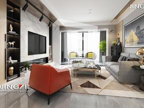 景逸效果图设计——家装现代简约
