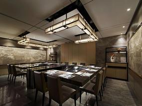 武汉大渔铁板烧餐厅|摇曳在铁板上的火焰-朗昇设计