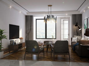设计案例:简洁质感170平米居室