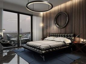 发两个最近临摹的作品,美式客厅和后现代卧室