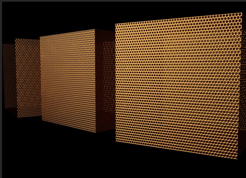 镂空铜色金属网(金属网印出贴图)