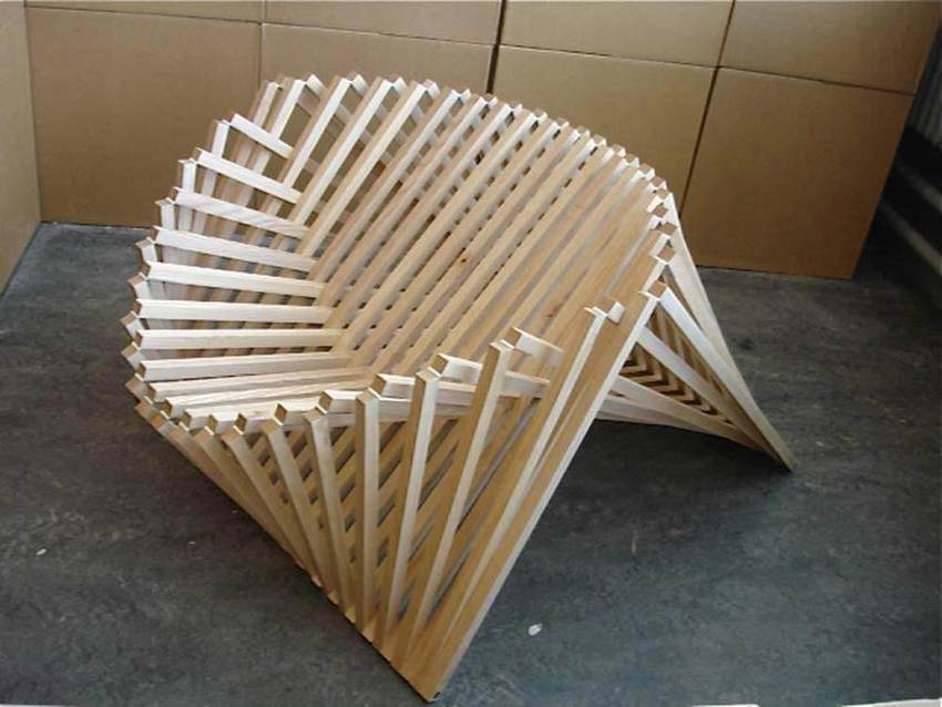 【小伟建模图文】交叉结构木质造型椅