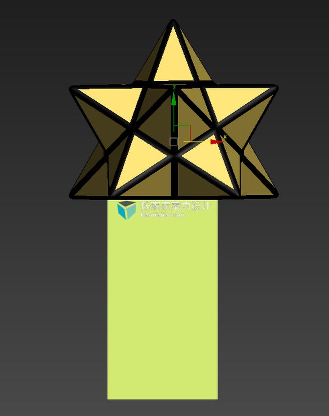 【小伟建模图文】星星状多边形造型灯