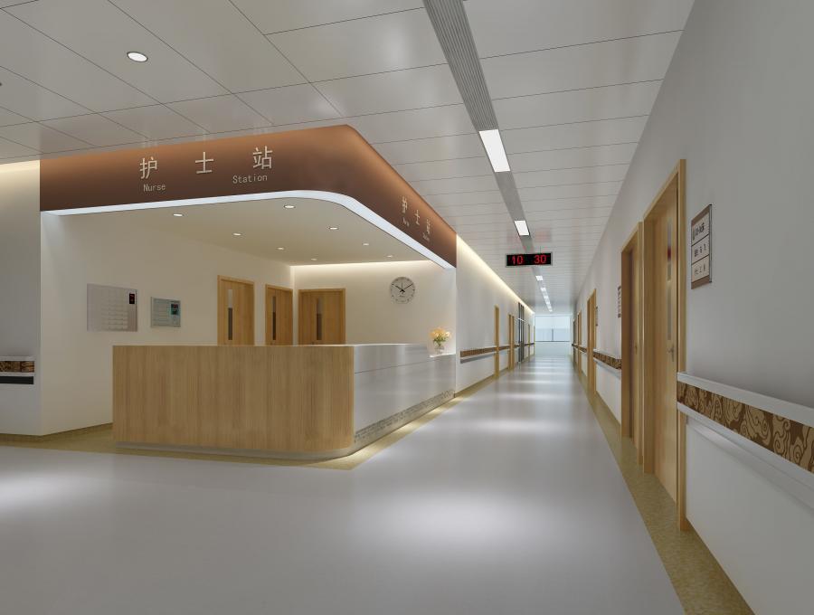 中医院设计案例效果图