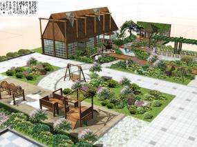 屋顶花园设计案例效果图