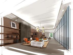 三亚项目  高级老人居住休闲会所  Sketchbook 室内方案手绘
