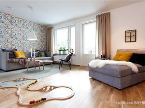 【设计圈sjq315】北欧风舒适三居室 有孩子的家庭不妨这么设计
