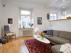 【设计圈sjq315】瑞典60平米北欧风公寓装修