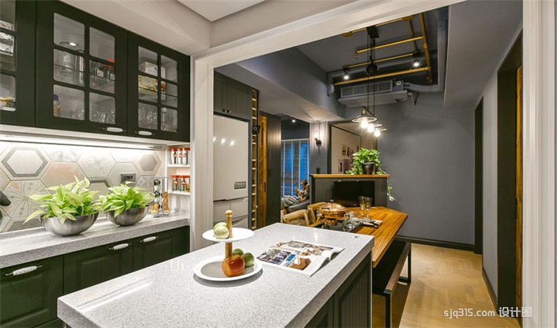 【设计圈】台北83平米美式公寓设计 打造跨越地域的美式风格住宅