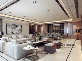 现代轻奢,望京绿地中心375样板间设计