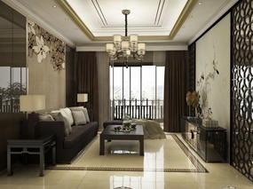 效果图中式客厅