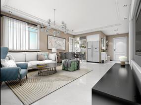 【久栖设计】北京上舍园丨三居室现代风格设计丨自在畅想