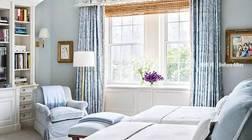 蓝色窗帘的正确搭配方式,彰显尊贵与灵性