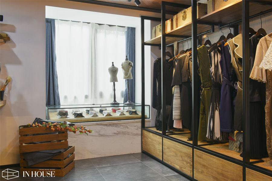 """融创财富一号""""私人衣橱""""LOFT工业风公寓样板间——INHOUSE设计!"""