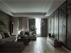 天古装饰龙湖郦江装修,南滨路洋房设计,素雅色调