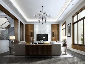 别墅现代轻奢风格设计 | 万科江上明月装修方案参考