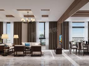 别墅新中式风格设计,东海定南山装修参考,天古设计师江涛