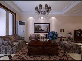 贵阳小石城欧式风格装修设计案例效果图-云上装饰