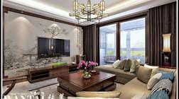 【赏析】济宁永基城130平四居室的新中式风格的装修案例