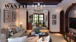 邹城鑫源国际城三居室130平米美式田园风格,与你同美