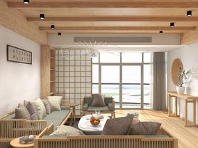 深圳新中式原木风格住宅设计