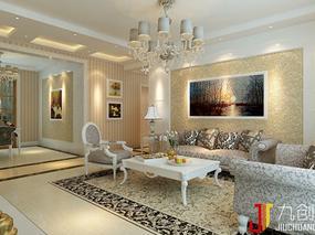 石家庄建安小区139平欧式风格装修案例