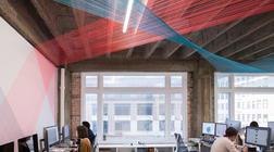 彩色编织环绕的办公空间设计