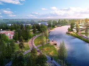 [园林景观] 公园-小桥-景色依旧