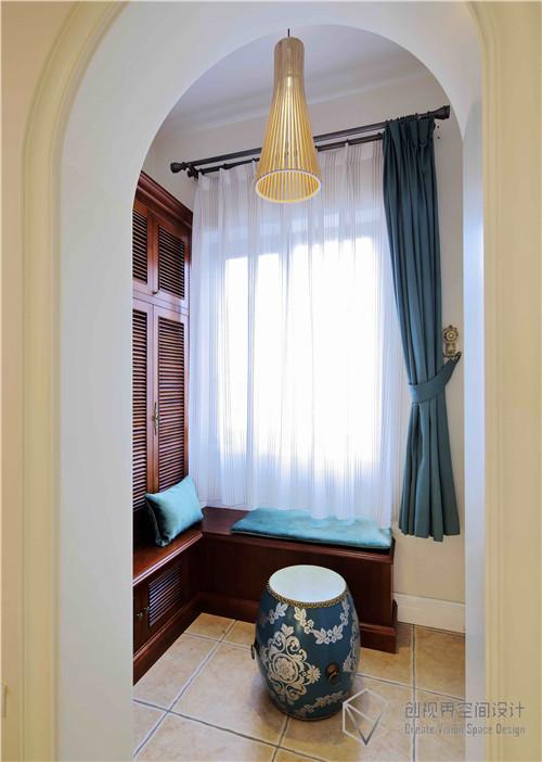 北京密云君山高尔夫独栋别墅美式装饰设计实景图