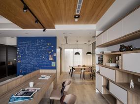 混搭风格 l 45坪隐藏设计住宅装修