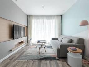 金阳家装公司小户型北欧风格设计案例效果图