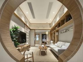 日式原木风格装修案例