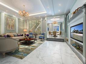 360平米高端别墅欧式风格家装最新案例