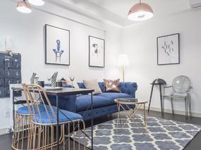 90平米地中海风格创意两室一厅设计案例