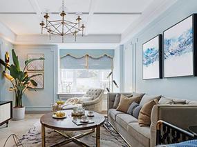 贵阳金阳美的林城三室一厅140平北欧风格装修案例