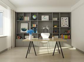一个书房3套风格,望点评