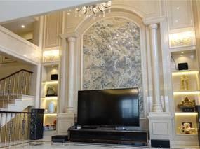 广州知名设计师吕志升:挑空客厅+豪华内装,南天名苑别墅