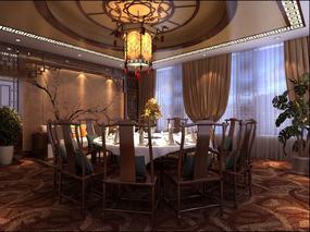 安顺餐厅设计公司《清风醉中餐厅》
