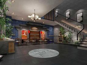 《饭菜真湘中餐厅》郑州餐厅设计 郑州餐厅设计公司