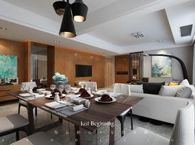木质·年华 170平平层家庭装修设计