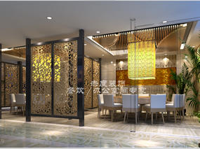 大型餐厅设计//如何打造墙面的造型