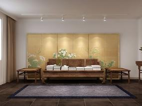 明烨天空-中式公寓效果图