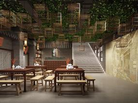 明烨天空-繁楼餐厅效果表现项目1