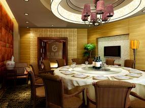 丰禾银座酒楼效果图2丨成都专业餐厅设计丨餐厅装修