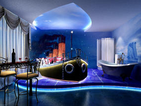 贵阳主题酒店装修设计案例效果图-筑格装饰公司