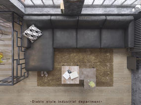 暗黑系工业风格私家公寓