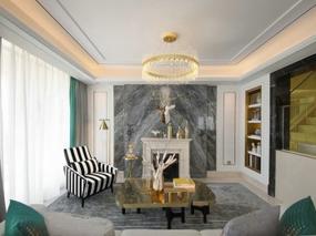 大森设计   金华红星天铂顶层复式样板房软装设计