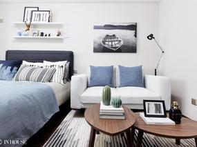 """融创财富一号北欧风格29㎡""""宜家小公寓""""样板间软装设计!"""