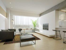 简约客厅的材质表现